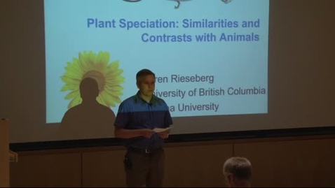 Thumbnail for entry Storer Lecture Series - Loren Rieseberg 5-30-2012