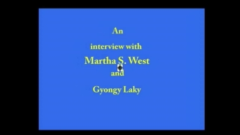 Thumbnail for entry Martha  West