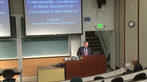 Thumbnail for entry Storer Lecture Series- Emilio Bizzi 2-16-2012