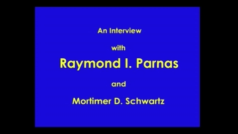 Thumbnail for entry Raymond Parnas