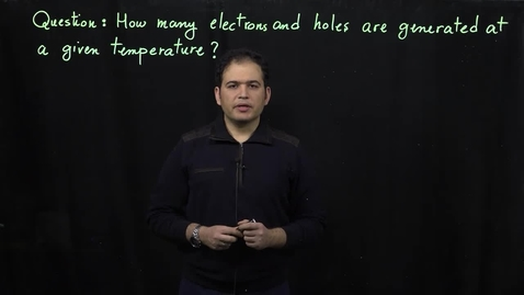 Thumbnail for entry Basics of Semiconductor Physics (Part 3: Intrinsic Silicon Conductivity)