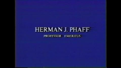 Thumbnail for entry Herman Phaff