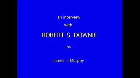 Thumbnail for entry Robert Downie