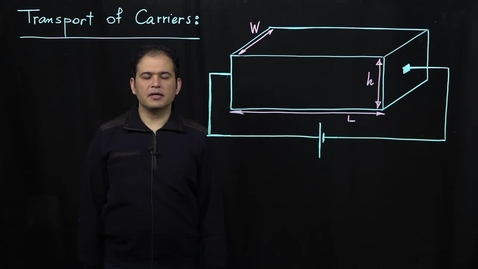 Thumbnail for entry Basics of Semiconductor Physics (Part 5: Drift Current)