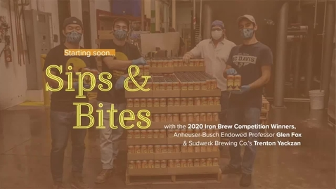 Thumbnail for entry Sips and Bites 2020 Iron Brew Winners