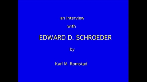 Thumbnail for entry Edward Schroeder