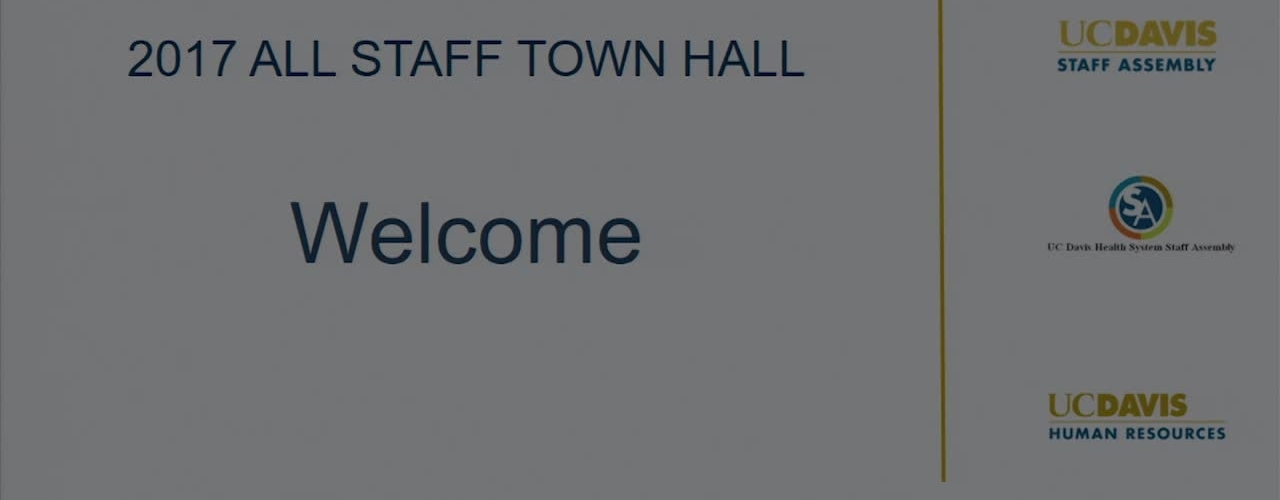 All Staff Town Hall - December 14, 2017