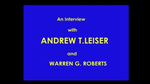 Thumbnail for entry Andrew Leiser