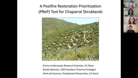 Thumbnail for entry UC Davis-CFSC Webinar: Postfire Restoration for Chaparral Shrublands