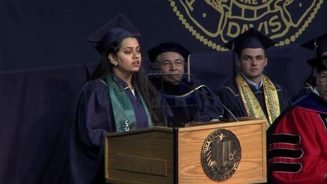 Thumbnail for entry 2018 Bio Sci Student Speaker – Mounika Bhaskara June 17, 2018