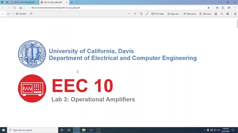 Thumbnail for entry EEC10 Lab 3 - Op Amps and Microphones