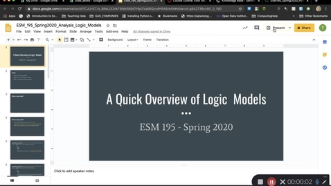 Thumbnail for entry ESM195_Spring2020_LogicModels
