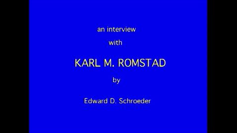 Thumbnail for entry Karl Romstad