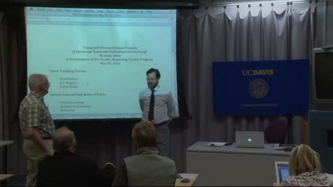Thumbnail for entry Faculty Mentoring Faculty Program (FMFP) 2011-12: 5-25-12 Andy Jones