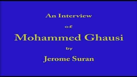 Thumbnail for entry Mohammed Ghausi