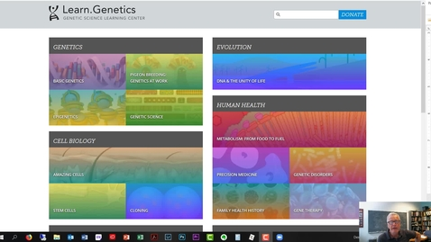 Thumbnail for entry Bioinformatics 9 suppliment: Learn Genetics flash player files
