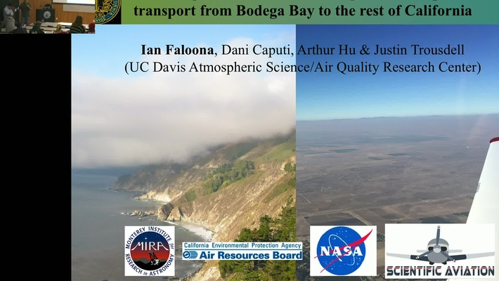 BML - Ian Faloona: Prevailing Winds, Summertime Fog, and Atmospheric Transport from Bodega Bay to the Rest of California