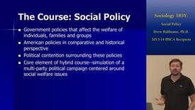 Thumbnail for entry Sociology 185Y: Social Policy | Online and Hybrid Showcase 2014