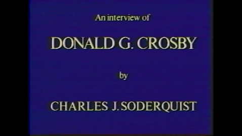 Thumbnail for entry Donald Crosby