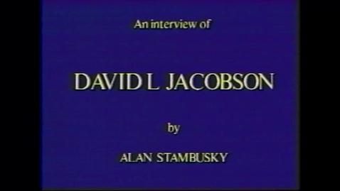 Thumbnail for entry David Jacobson
