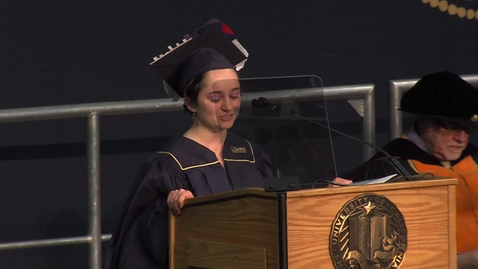 Thumbnail for entry 2019 Fall Commencement Student Speaker - Ellen Caminiti 12-14-2019