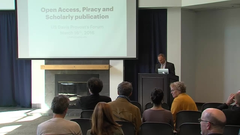 Thumbnail for entry Open Access, Piracy and Scholarly Publication - Christopher Kelty (3-16-16)