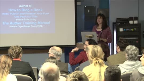 Thumbnail for entry UWP Conversations with Writers Series 2012-13: Nina Amir & Chris Higgins 3-5-03