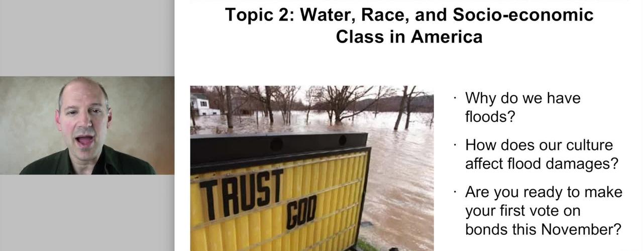 SAS004: Water, Race, and Socio-Economic Class in America