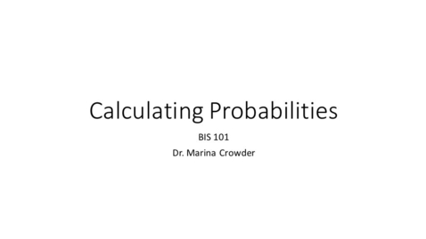 Thumbnail for entry Calculating probabilities
