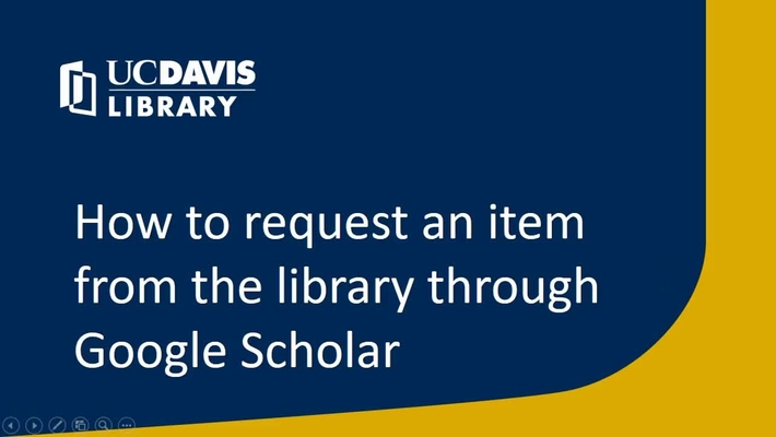 How to request an item from the library through Google Scholar