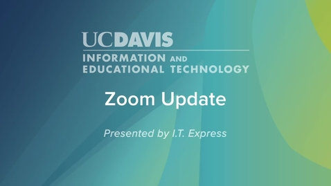Thumbnail for entry How do I update my Zoom Application
