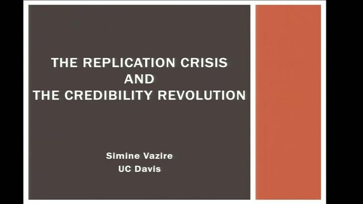 Replicability Crisis and Credibility Revolution Lecture Intro to Research Methods Simine Vazire UC Davis, Fall 2019
