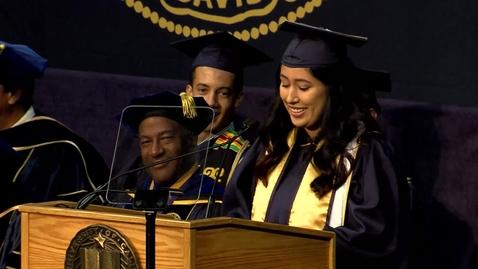 Thumbnail for entry 2019 Ag & Environmental Sciences Student Speaker AM - Graciela Barajas - June 16, 2019