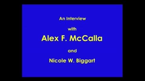 Thumbnail for entry Alex McCalla
