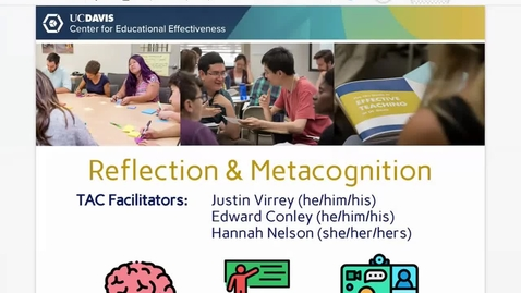 Thumbnail for entry 4 May Reflection and Metacognition Workshop