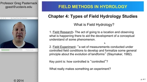 Thumbnail for entry HYD151: Theoretical Basis for Field Research