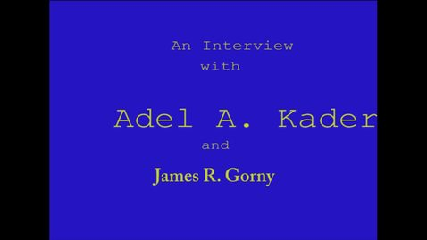 Thumbnail for entry Adel Kader
