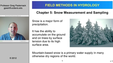 Thumbnail for entry HYD151: Snow Measurement and Sampling