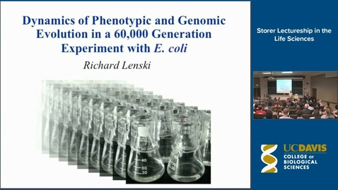 Thumbnail for entry Storer Lecture - Richard Lenski 10-8-15