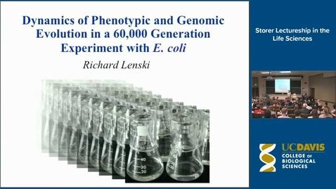 Thumbnail for entry Storer Lecture - Richard Lenski 10-8-15