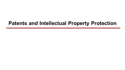 Thumbnail for entry Patents and Intellectual Property