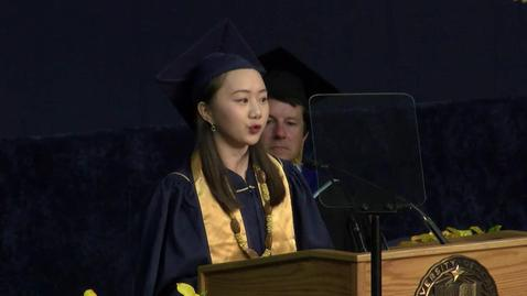Thumbnail for entry 2017 College of Biological Sciences Student Speaker - Shuya Iris Zhang