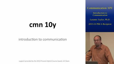 Thumbnail for entry Communications 10Y: Introduction to Communications | Online and Hybrid Showcase 2014