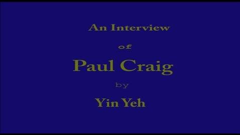 Thumbnail for entry Paul Craig