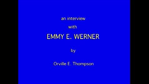 Thumbnail for entry Emmy Werner