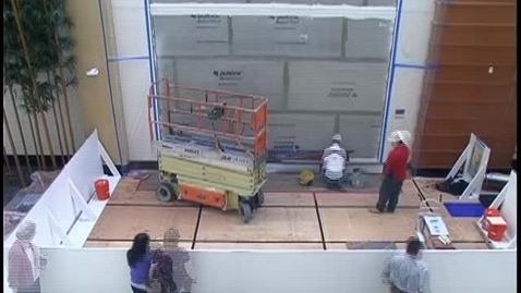 Thumbnail for entry Timelapse of installation of Resurgence mural