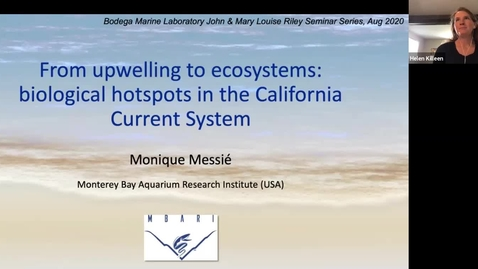 Thumbnail for entry BML - Dr. Monique Messie: From upwelling to ecosystems: biological hotspots in the California Current System