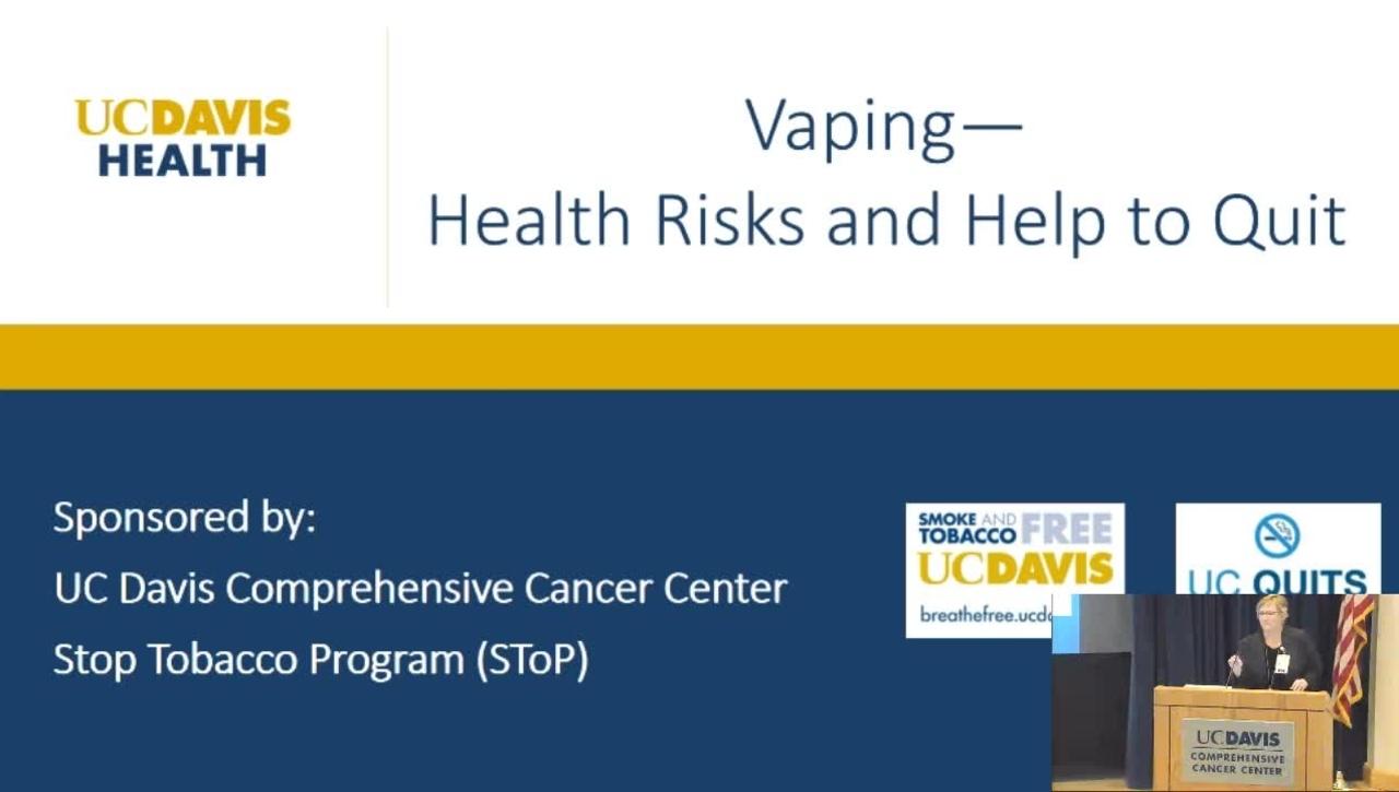 Vaping Presentation - Healthy UC Davis