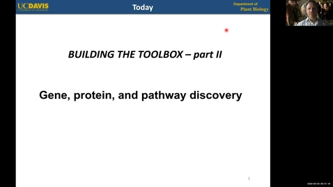 Thumbnail for entry PBI298 Lecture#6 Gene Discovery