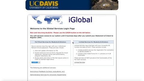 Thumbnail for entry Pre-Arrival Guide for International Students - Module 1: iGlobal Portal